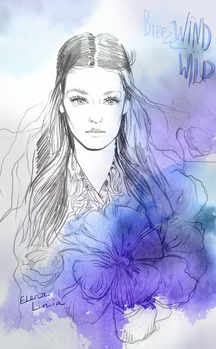 Illustration by Elena_linia #illustration #fashionart #watercolor #fashionillustration