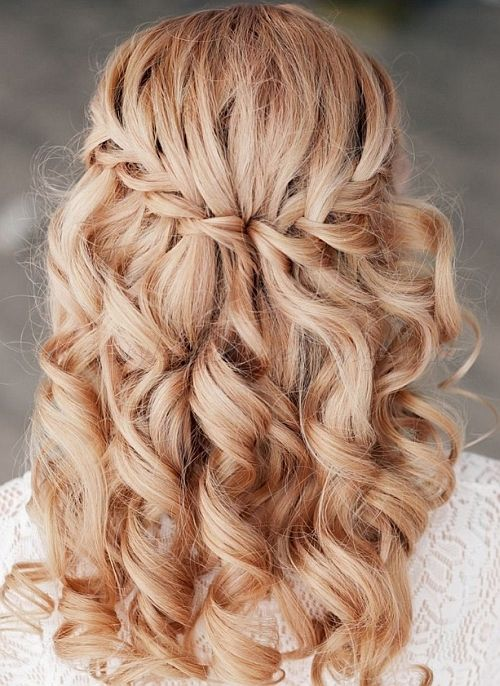 Waterfall Wedding Hairstyles With Braids