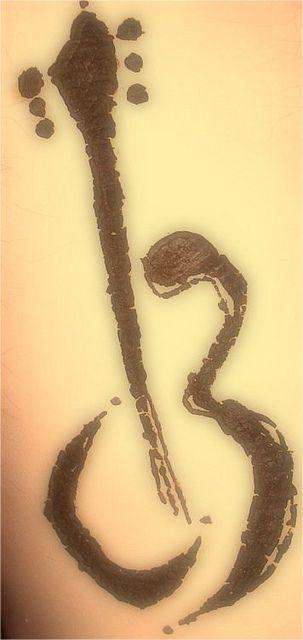 Zen guitar henna art. #lunaguitars: