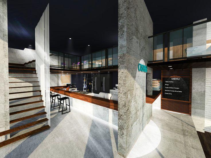 Design Project About Hong Kong Bu0026B | Cafe Rendering|Designed By Wong Ka Yan|