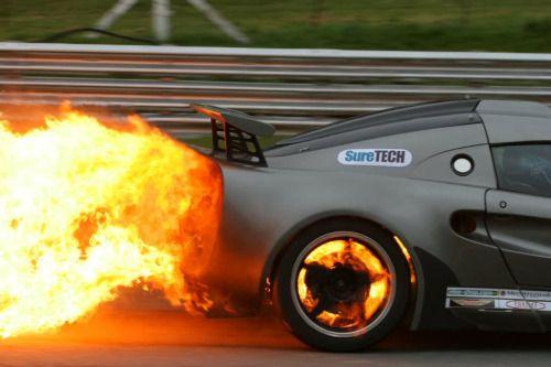 sharonov:  Lotus Exige fire