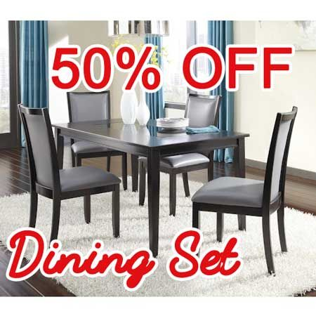 50 PERCENT OFF DISCOUNT Trishelle 5 Piece Rectangular Dining Table Set