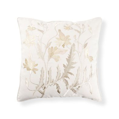 Fern-Embroidered Pillow - Decorative Pillows - Bedroom   Zara Home United States of America