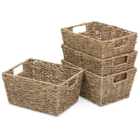 Home Laundry Basket Organization Seagrass Storage Baskets