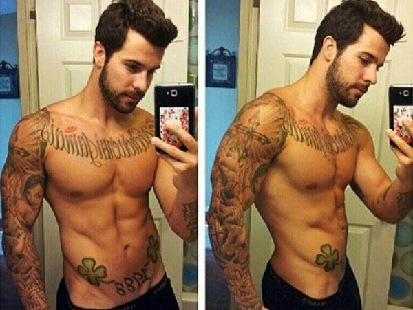 Afternoon eye candy: Hotties with tats and beards (23 photos).
