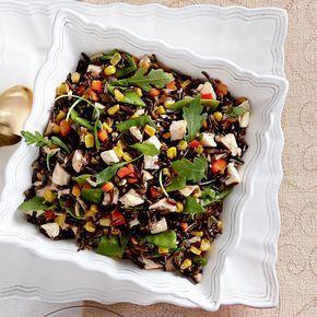 Salade de riz sauvage au dindon et au maïs grillé