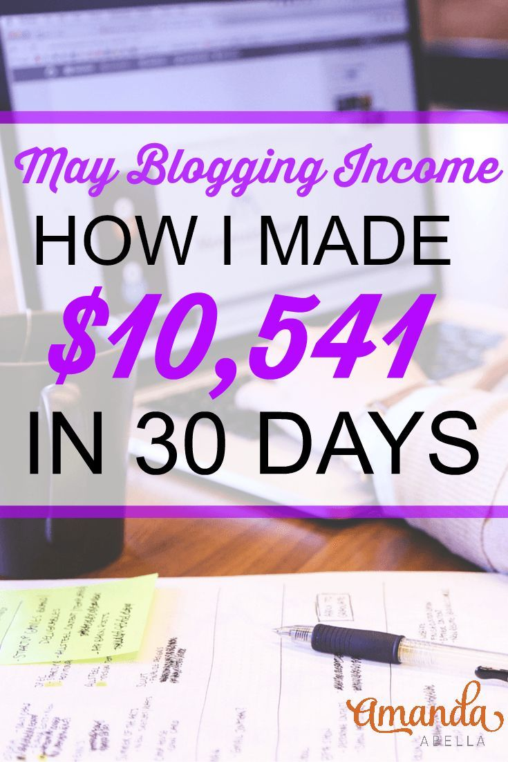 My latest blogging income report where I detail how I made over $10,000 from my online business during the month of May. http://www.amandaabella.com/blogging-income-report-first-five-figure-month-10541-88/