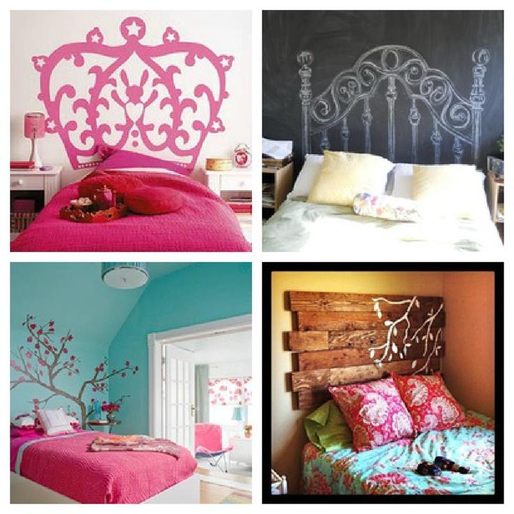 Cabeceros originales para habitaciones de adolescentes.  Cual te gusta mas?  1-2  3-4 pinned with Pinvolve
