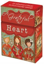 """BOXED CARDS:  A GRATEFUL HEART (BX083).  Box of Blessings. Available from Faith4U Book- and Giftshop, Secunda, SA. Email """"faith4u@kruik.co.za"""""""