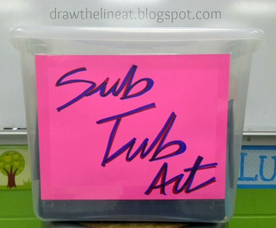 Draw The Line At: art sub tub