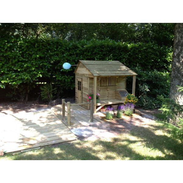 Safari houten speelhuis Vlinder - Houten-Speelgoed.nl