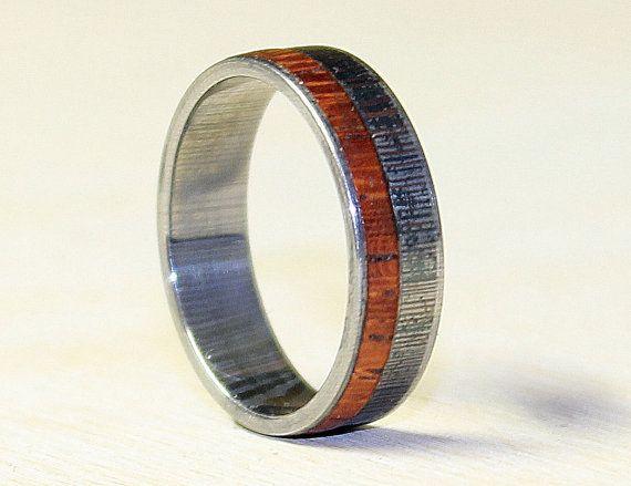 Damascus 1095 steel ring for men unisex damascus by ringordering