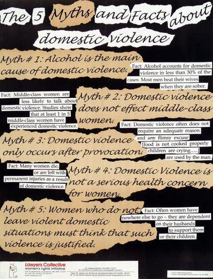 myths and facts about relationship violence