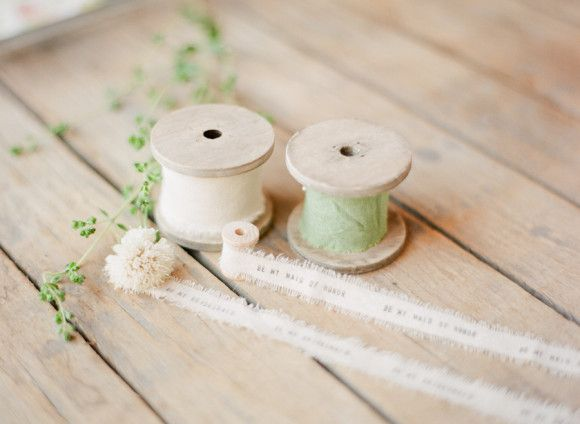 #DIY for asking your bridesmaids to be a part of your wedding day - bouquets with personalized ribbon