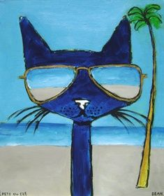 1st Grade art assignments | 1st grade art projects- cats back from summer vacation?