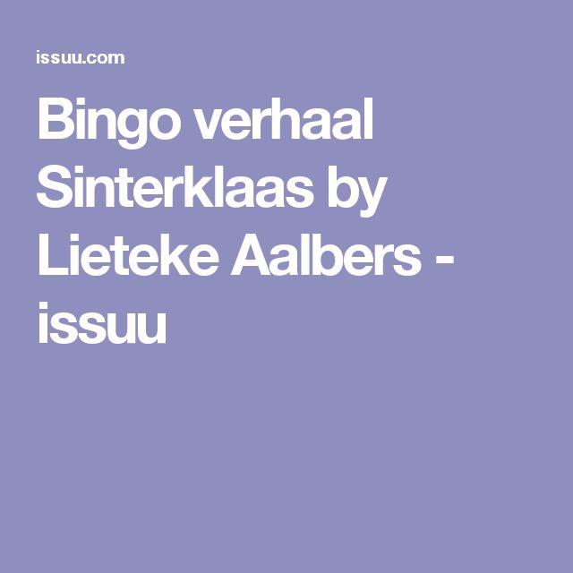 Bingo verhaal Sinterklaas by Lieteke Aalbers - issuu