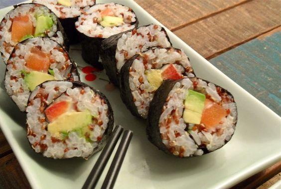 Recept voor Gezonde Quinoa Sushi! Recipe for healthy sushi with quinoa!