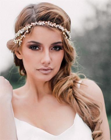 Bridal headpiece - delicate boho style crystal - Karena – KEZANI JEWELLERY  - designer bridal jewellery and wedding accessories b5738cd7f53