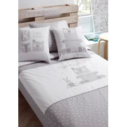 Saco nordico infantil serie BOBO para cama de 90 cm color gris