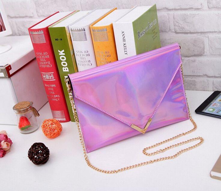 2015 para mujer del verano bolsas de hombro del Club de noche embragues bolsas transparentes de PVC cadenas embragues del día 6 colores en Bolsos de Mano de Bolsos y Maletas en AliExpress.com | Alibaba Group