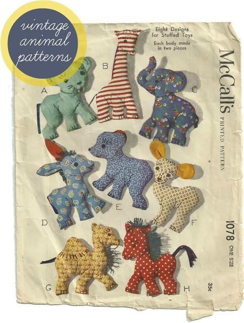 animal sewing patterns - photo #36