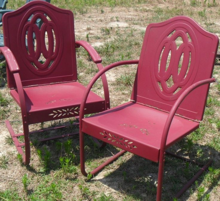 45 best vintage iron patio images on pinterest for Vintage retro chairs