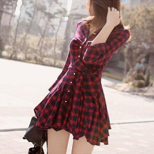 vestido xadrez lindo alternativo rock