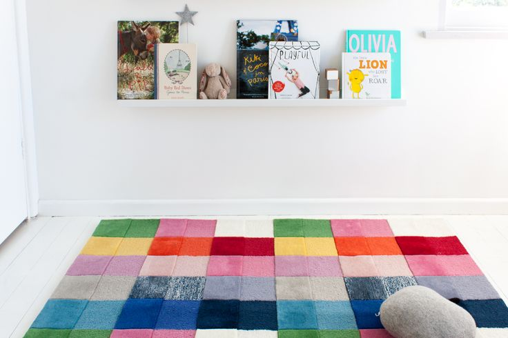 little P - 'Rainbow Splash' rug - 100% NZ Wool