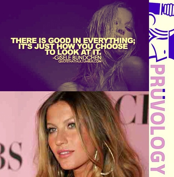 There is good in everything; It's just how you choose to look at it - #GiseleBundchen #victoriassecret #show #pruvology #pruv #instaquote #vs #fashion #fashionshow #pink #style #model #bikini #wings #gorgeous #inspiration #ambition #beauty #ootd
