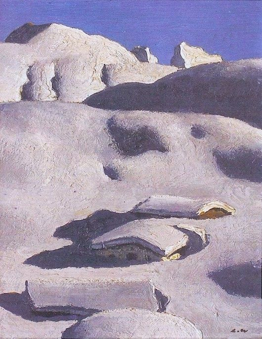 Alfons Walde, Winter in Tyrol, 1930
