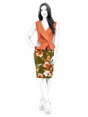 4500 Dress With Vest Imitation