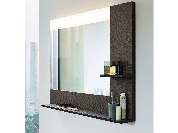 Gorgeous Lighted Bathroom Wall Mirror For Any Styles Modern With Shelf