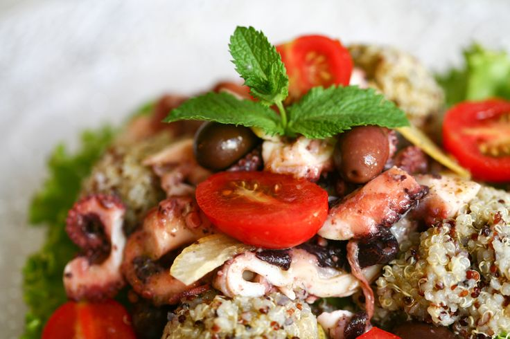 Octopus fen and quinoa, where? At Mint Cucina Fresca, Polignano a Mare, Puglia, Italy