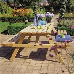 Hillhout Picknicktafel | Voorgemonteerd en Gemaakt van Geïmpregneerd Hout | Vanaf €95,