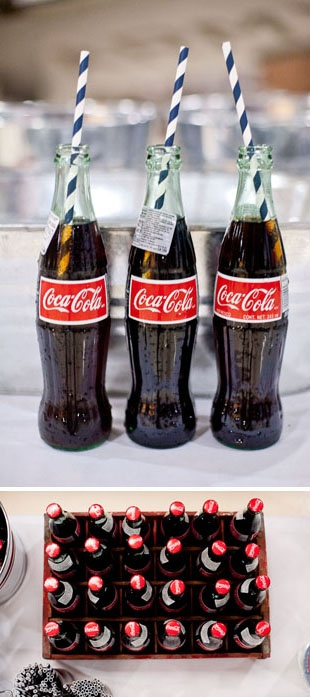 old fashioned coke bottles!