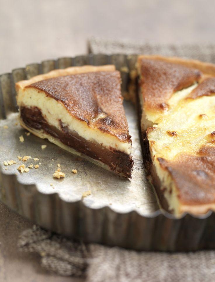 Tarte aux poires et au chocolat croquant