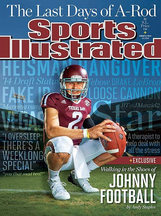 Johnny Manziel on the cover of Sports Illustrated. Photo by Andrew Hancock.