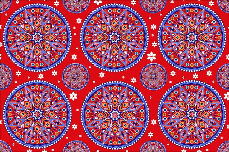 Seamless ethnic pattern by Sunny_Lion on @creativemarket