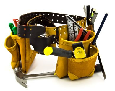 Carpenter Tool Belt and Tools -...