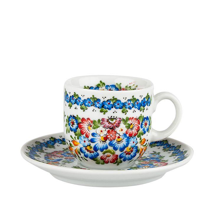 Filiżanka do espresso - ręcznie malowana - ceramika opolska