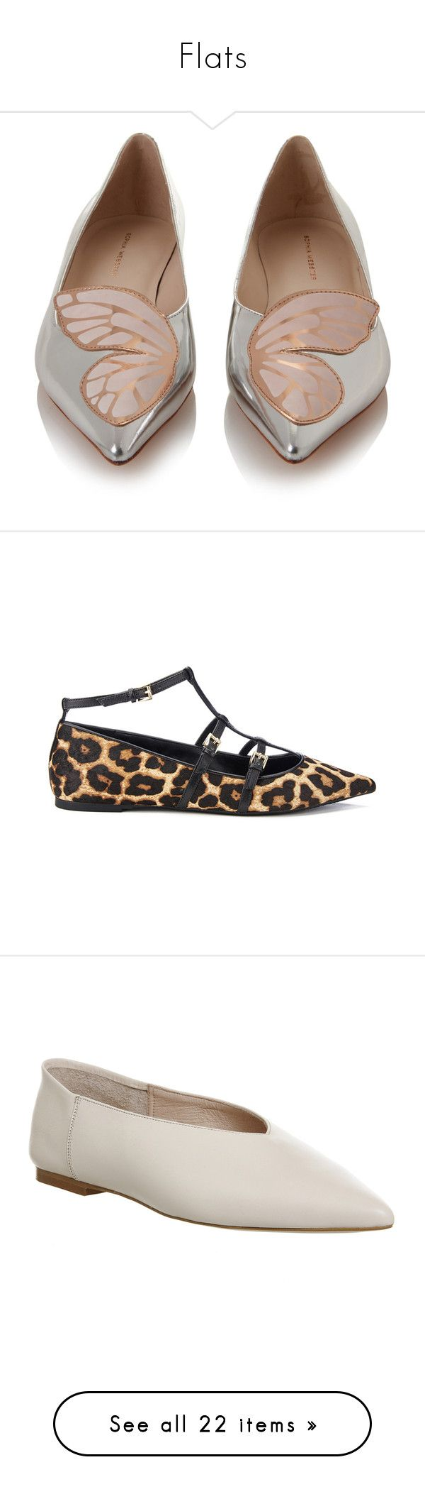 """""""Flats"""" by kitkat12287 ❤ liked on Polyvore featuring shoes, flats, flat shoes, metallic flats, pink flats, pink shoes, pointy toe flats, tan, pointed ballet flats and leopard ballet flats"""