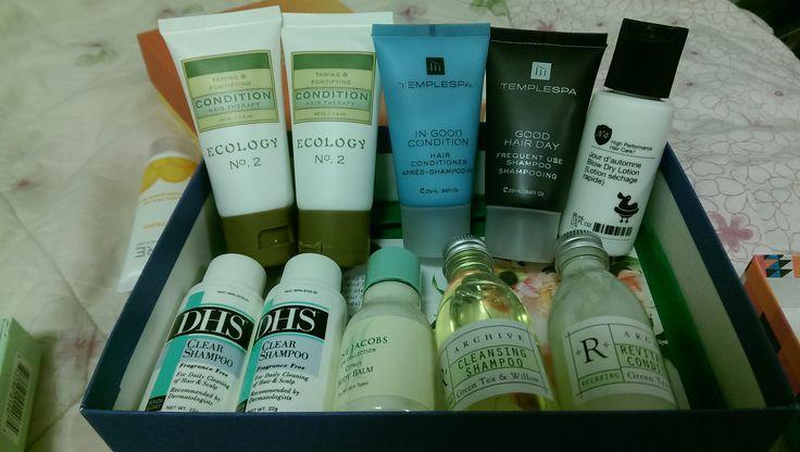Ecology No 2 shampoo & conditioner | Temple Spa shampoo & conditioner | No.4 Hair lotion | DHS shampoo & conditioner | Archive shampoo & conditioner