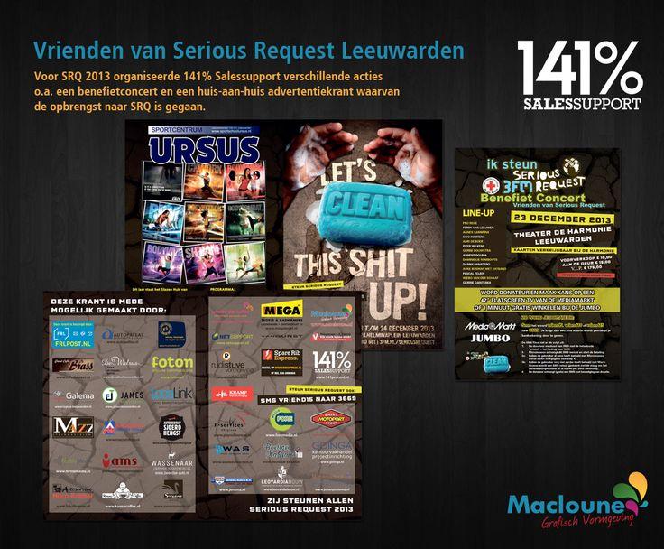 Opmaak Huis - aan - Huis krant voor actie Serious Request 2013