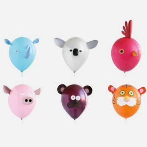 Animal head balloons to decorate your bedroom or birthday party