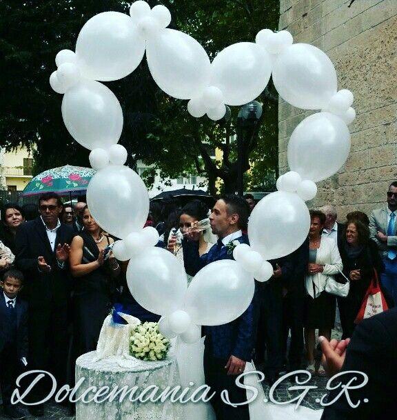 #dolcemania #palloncini #puglia #italy #cuore #heart #wedding #balloons #gargano #sangiovannirotondo #bianco #momenti #brindisi #sposi