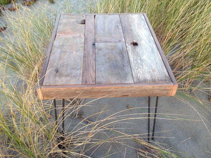35% OFF SALE - Modern Industrial Reclaimed Rustic Wood Coffee Table - Side Table with Vintage Eames Style Steel Hairpin Legs by thezenartist on Etsy https://www.etsy.com/listing/204319247/35-off-sale-modern-industrial-reclaimed