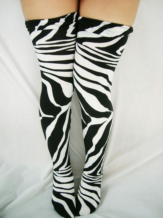 Zebra socks! I would so wear these!