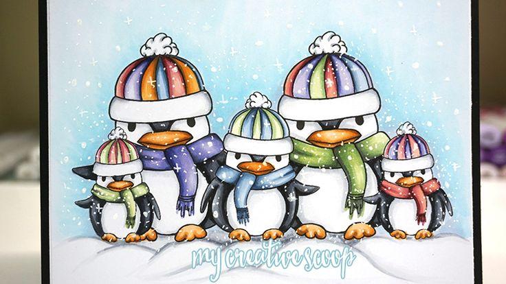 Penguin Family DIgi Stamp Download