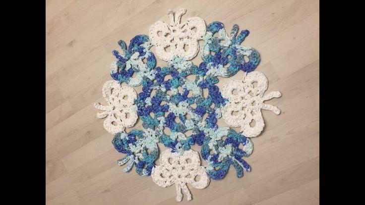 Tuto tapis papillon au crochet