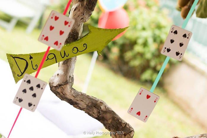 Playing Card Garland from an Alice in Wonderland Birthday Party via Kara's Party Ideas KarasPartyIdeas.com (18)